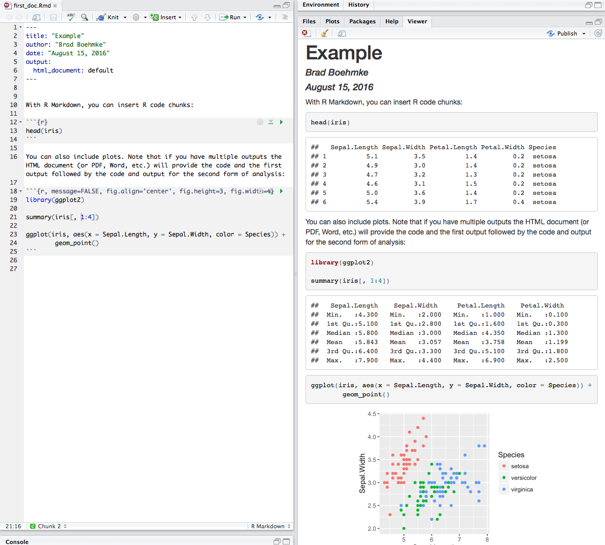 R Markdown · AFIT Data Science Lab R Programming Guide
